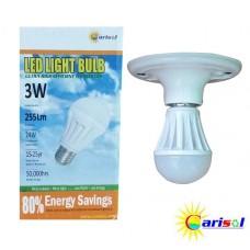 3W/255Lm L.E.D LIGHT BULB-SR-BL-3W-SO1-01-3000K CT WARM WHITE