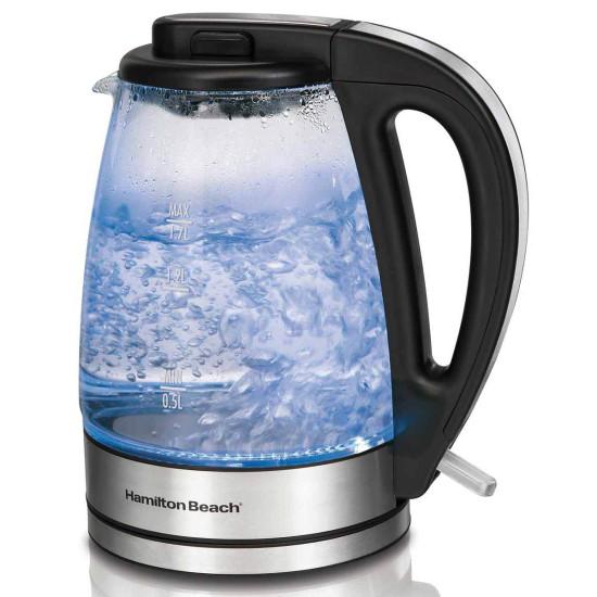 1.7-Liter Glass Electric Kettle Hamilton Beach 40865