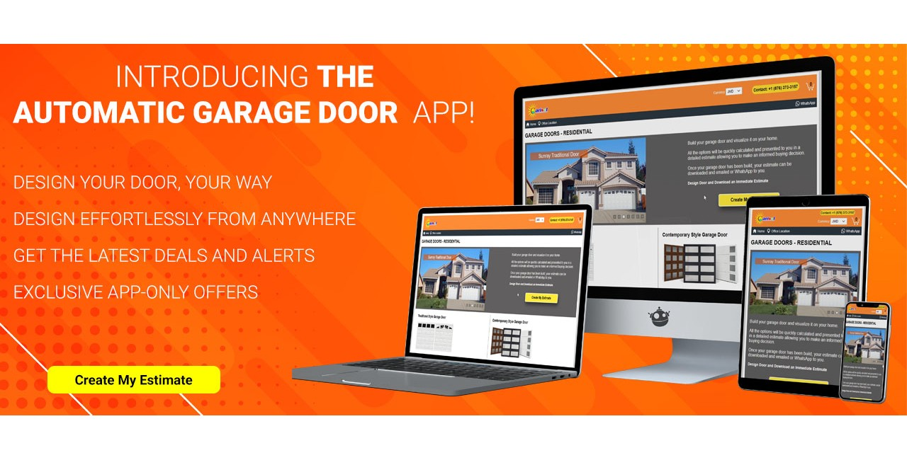Build your garage door and visualize it on your home.  All the options will be quickly calculated and presented to you in a detailed estimate allowing you to make an informed buying decision.  Once your garage door has been build, your estimate can be downloaded and emailed or WhatsApp to you.  Design Door and Download an Immediate Estimate