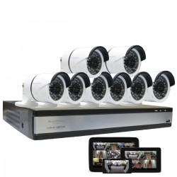 8 Channel Surveillance System Connectivity NEXXT SOLUTIONS XPY8008-HD