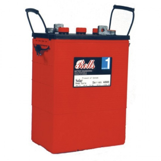 390 Amp Hour 6V - Lead Acid Battery Rolls Surrette - S6-L16 - S480