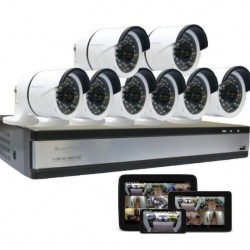 8 Full HD Security Camera System with 2TB Storage Backup Blackpoint -BP-8CAM-2TB