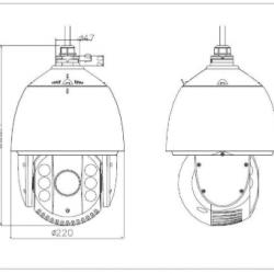 1.3MP IR Outdoor PTZ CCTV Analog Security Camera - Surveillance camera - Hikvision DS-2AE7123TI-A