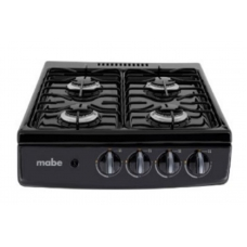 20 in. Mabe Gas Cooktop in Black with 4 Burners