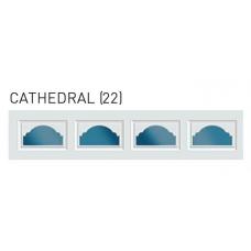 Cathedral Decra Trim Garage Door Window (per insert)