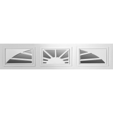 Sunray - Sunset Decra Trim Garage Door Window (per 3 pc insert)