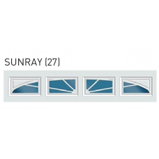 Sunray - Sunset Decra Trim Garage Door Window (per 4 pc insert)