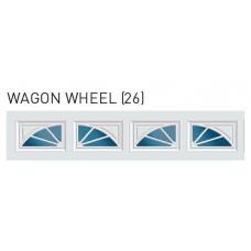 Wagon Wheel - Sunset Decra Trim Garage Door Window (per 2 pc insert)