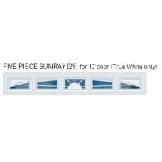 Sunray  - Sunset Decra Trim Garage Door Window (per 5 pc insert)
