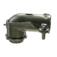 3/8 Flexible Metal Conduit 90-Degree Connector