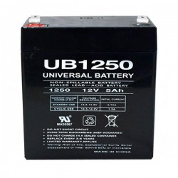 12-Volt 5 Ah Sealed Lead Acid Rechargeable Battery Universal Power Group-UPG UB1250