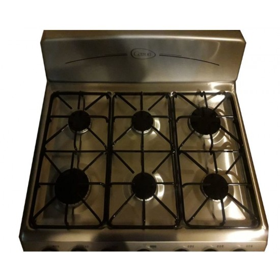 "30"" 6-Burner Cetron Gas Stove - Silver"