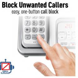 6.0 Expandable Cordless Phone with Answering Machine and Smart Call Block Panasonic-KXTGD532W