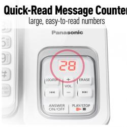 6.0 Expandable Cordless Phone with Answering Machine and Smart Call Block Panasonic-KXTGD533W